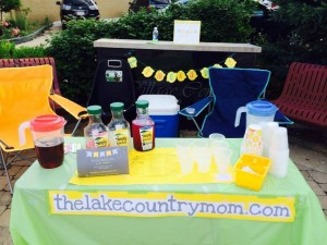 The Lake Country Mom Lemonade Stand