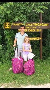 The Lake Country Mom's family at Phantom Lake YMCA Camp.