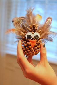 big-eyed turkey craft