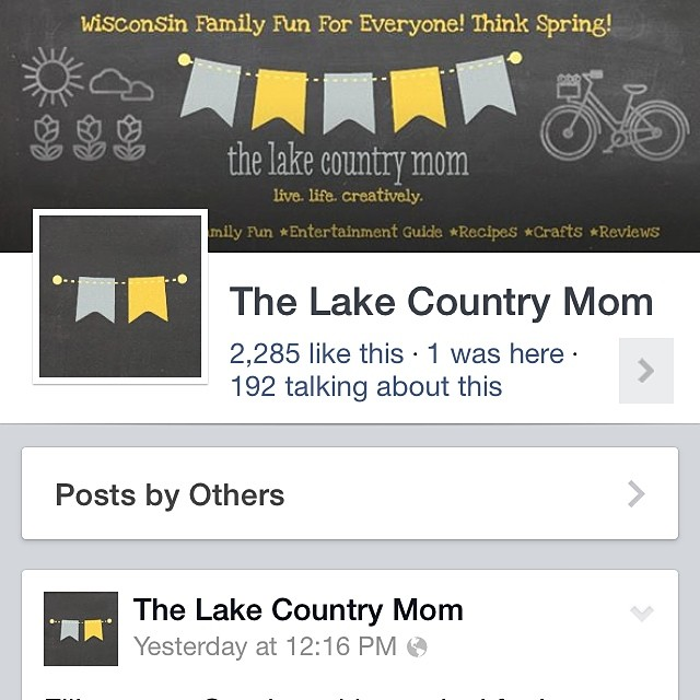 On Facebook? Come like us! We have giveaways all of the time! Facebook.com/thelakecountrymom