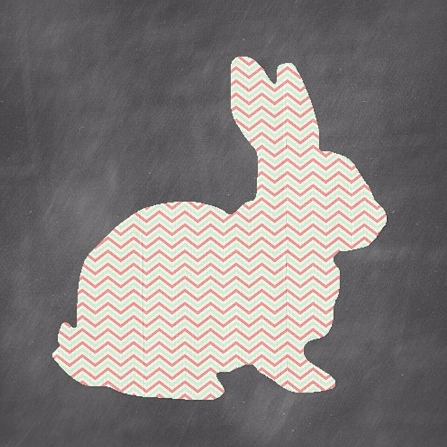 Happy Easter from our family to yours! #thelakecountrymom #easter #pinkbunny#chevron #chalkboard