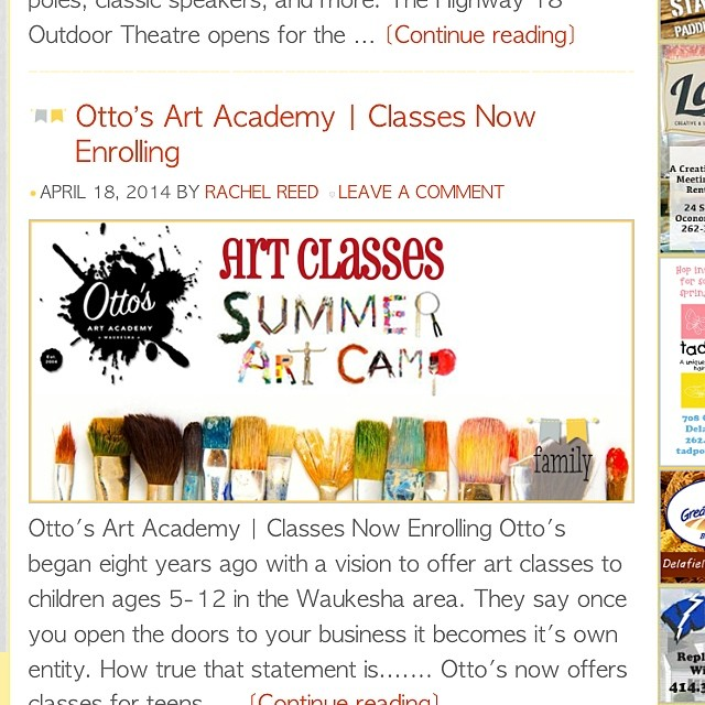 On the blog! thelakecountrymom.com Otto's Art Academy! #waukesha #artclasses #summercamp #art camp #lakecountry #wisconsin #igmom #blog #blogger #mom #family