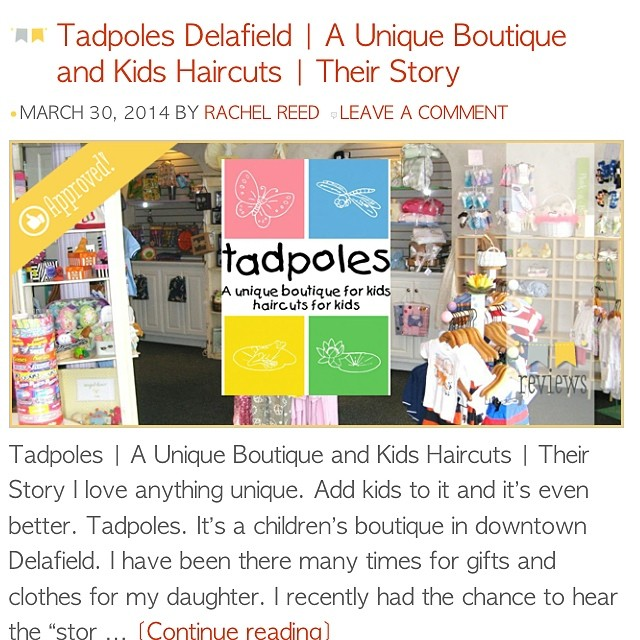 @tadpolesboutique Read out write up on this amazing little children's boutique in doe town Delafield, WI! thelakecountrymom.com #delafield #wisconsin #easterdress #springfashion #kids #kidsboutique #downtown #easterfun #waukeshacounty