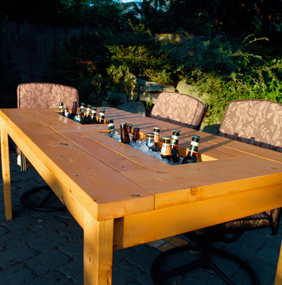 beer cooler table
