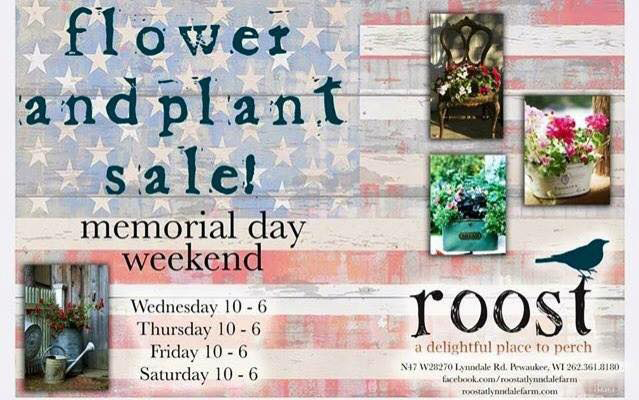 Roost Memorial Day Weekend flower + plant sale!