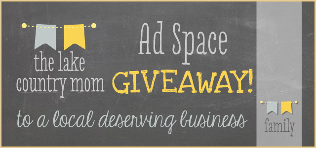 Ad Space Giveaway with The Lake Country Mom!