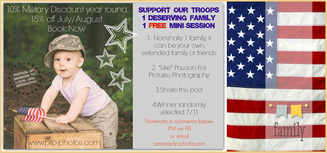 Support Our Troops: 1 Deserving Family, 1 Free Mini Session