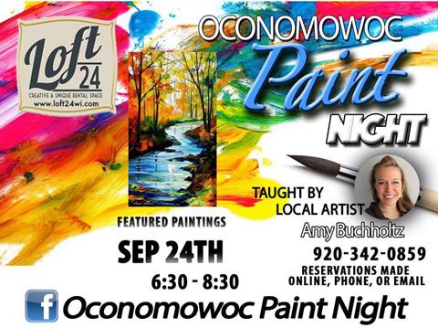 Paint Night in Oconomowoc