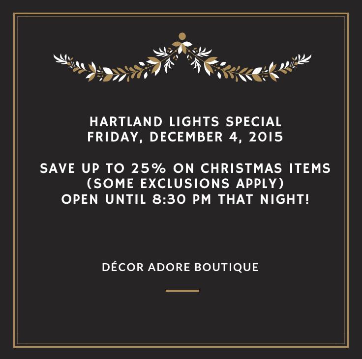 D cor adore boutique make your holidays magical the for Decor you adore facebook