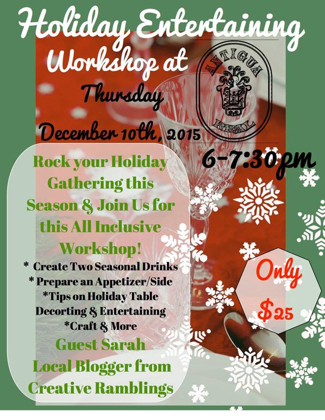 Holiday Entertaining Workshop