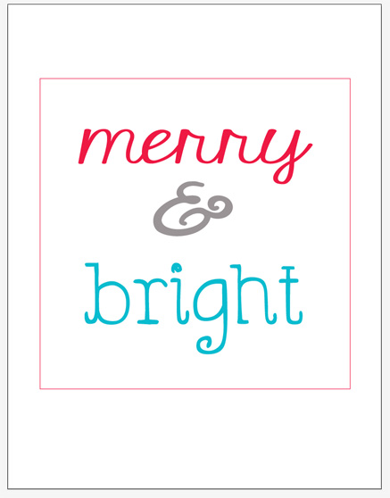 Merry + Bright Printable • The Lake Country Mom