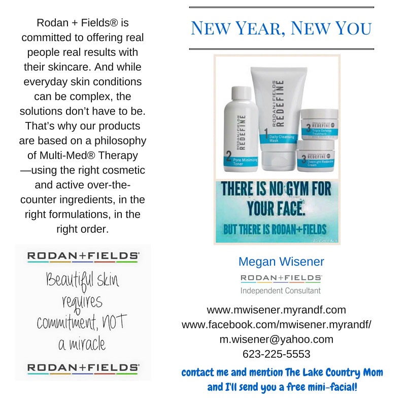 Rodan + Fields Megan Wisener • The Lake Country Mom