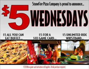 StoneFire Pizza Co $5 Wednesdays • The Lake Country Mom