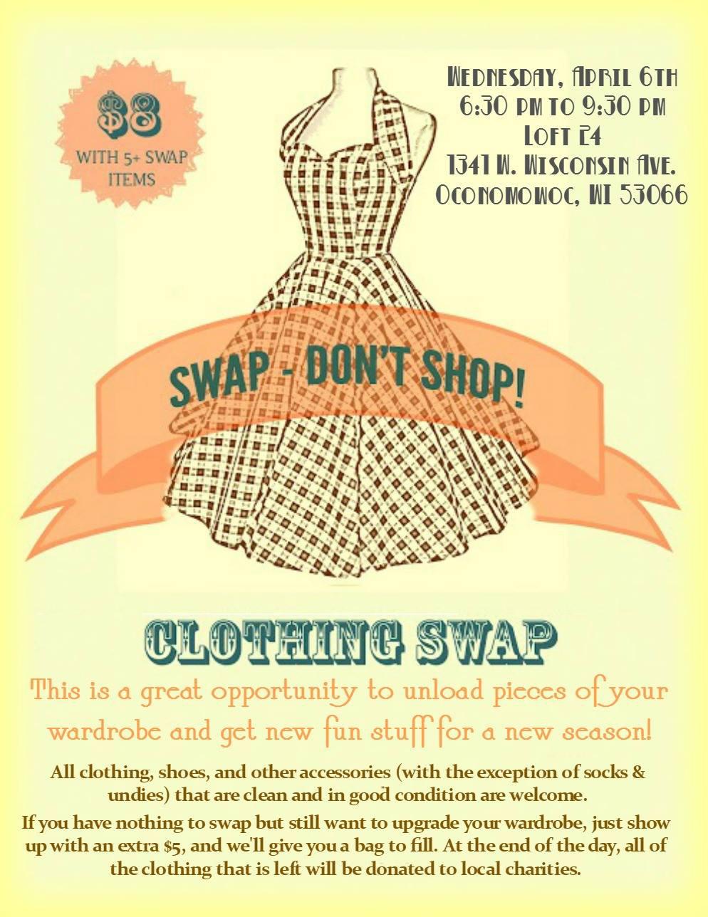 Swap - Don't Shop! Event at Loft 24