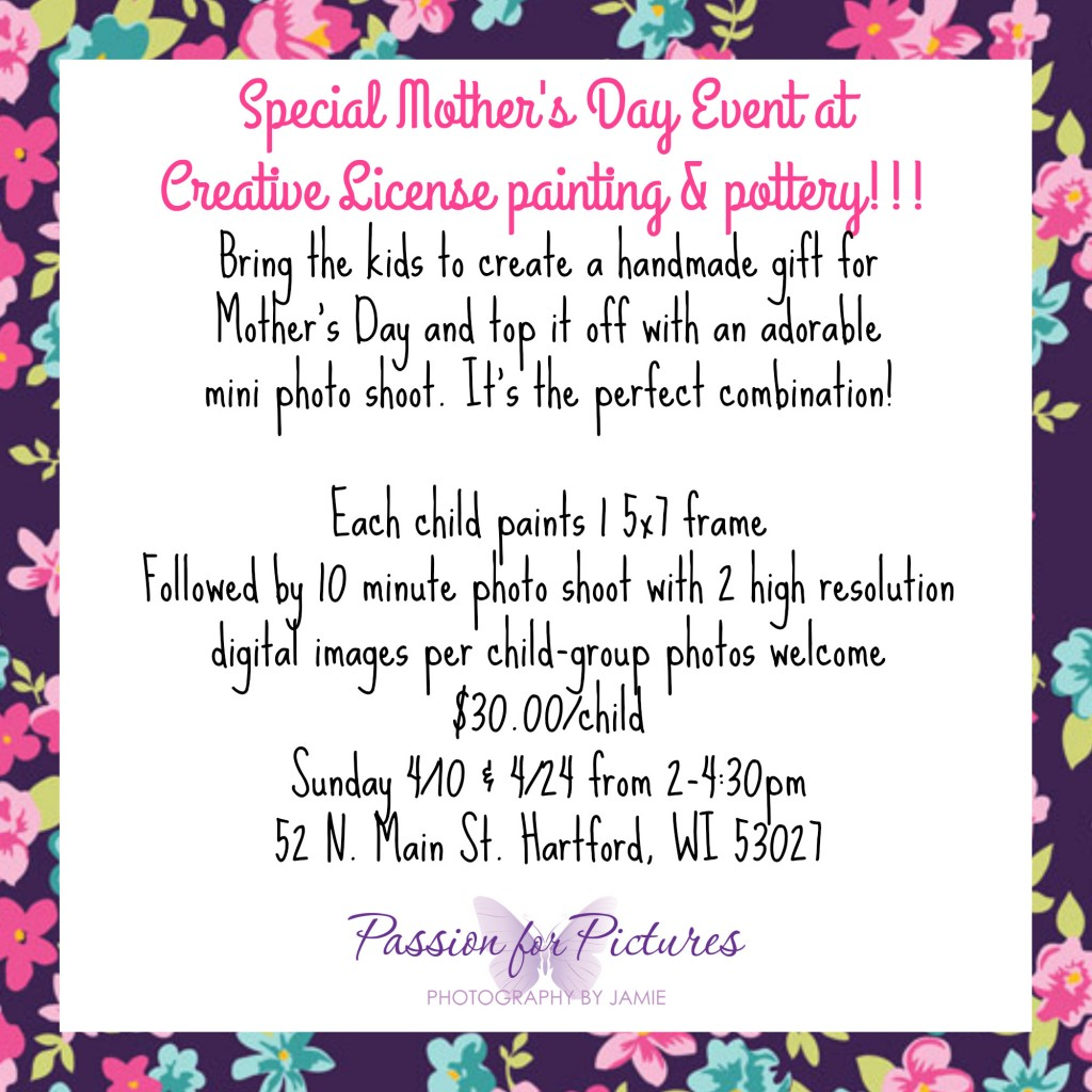 Mother's Day Photos and Picture Frame Painting