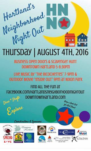 Hartland's Neighborhood Night Out
