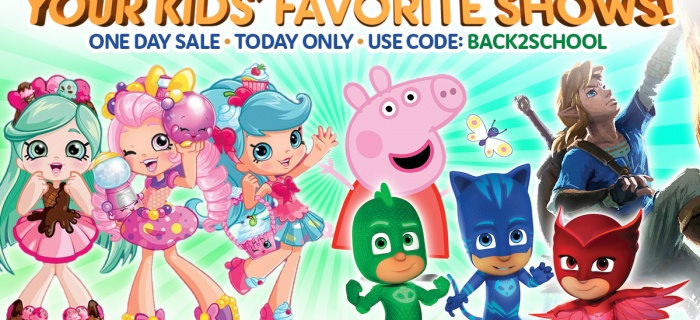 Your Kids' Favorite Shows | ONE DAY BACK TO SCHOOL SALE