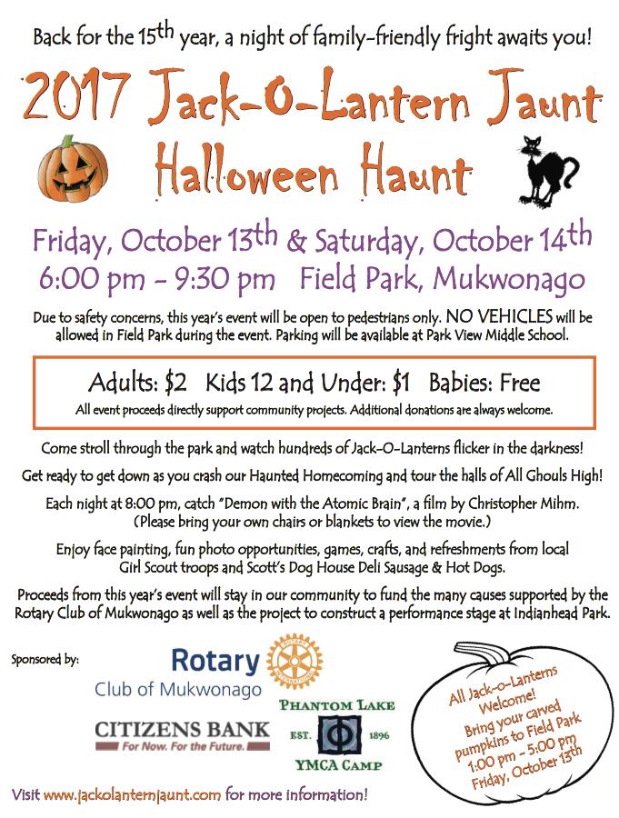 15th annual Jack-o-Lantern Jaunt/Halloween Haunt