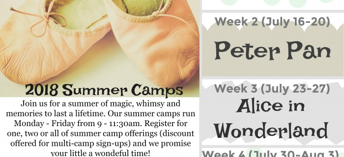 Beautiful summer programs to little dancers and dreamers in the lake country area
