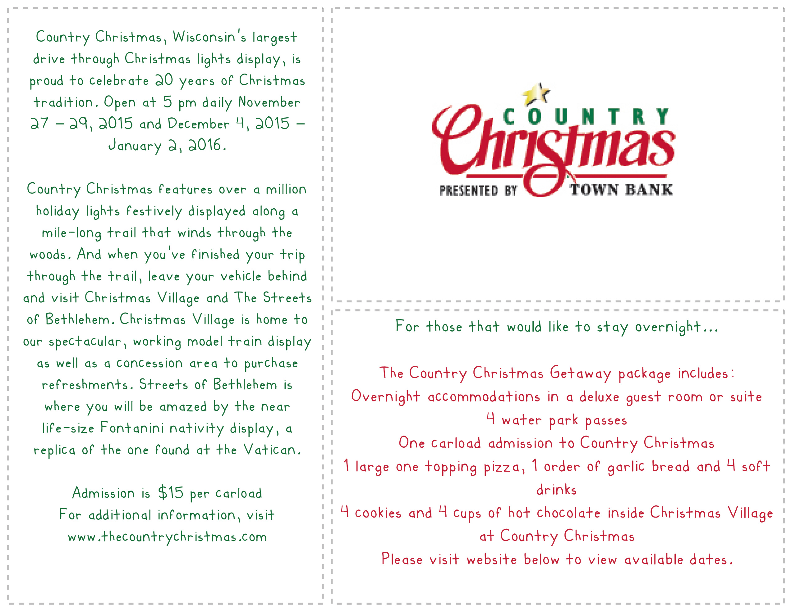 country christmas at the country springs hotel the lake country mom - Country Springs Christmas Lights