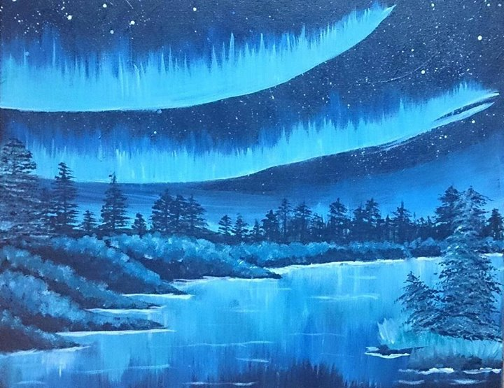Bob Ross Night! Winter Solstice - The Lake Country Mom